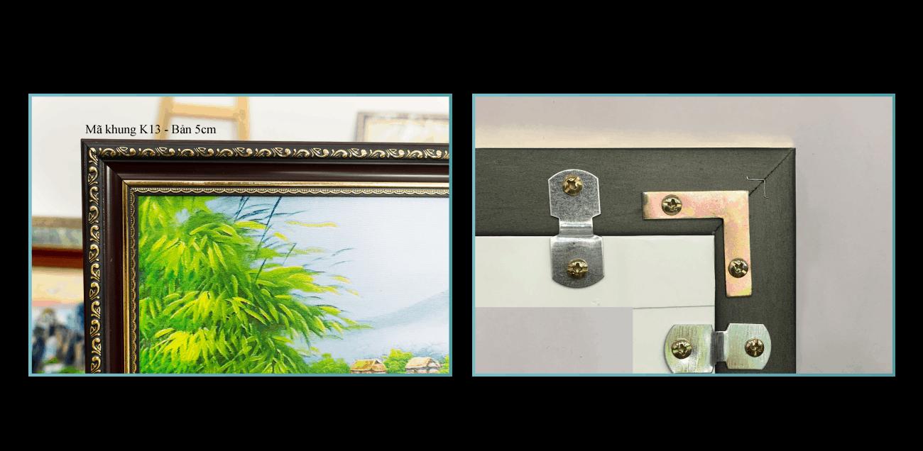 Khung composite bền đẹp (mặt trước và mặt sau khung)